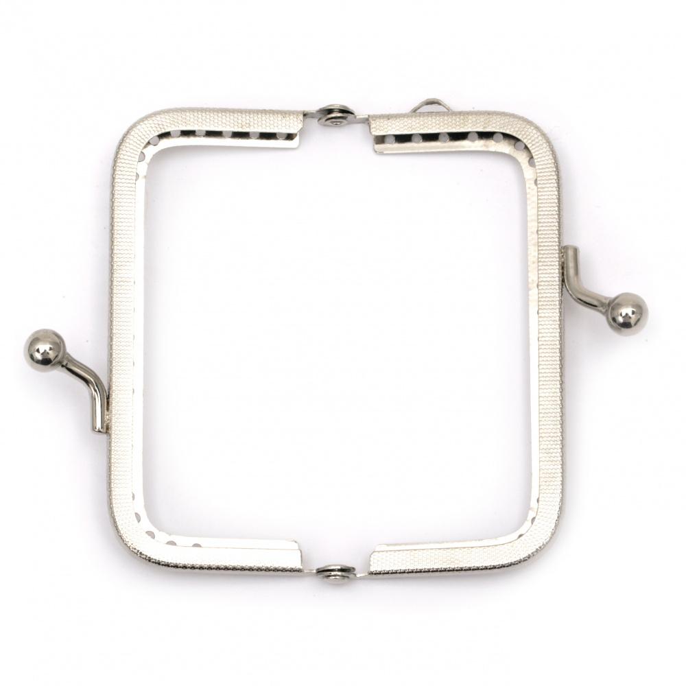 Închizător portofel / geantă 8 cm argintiu