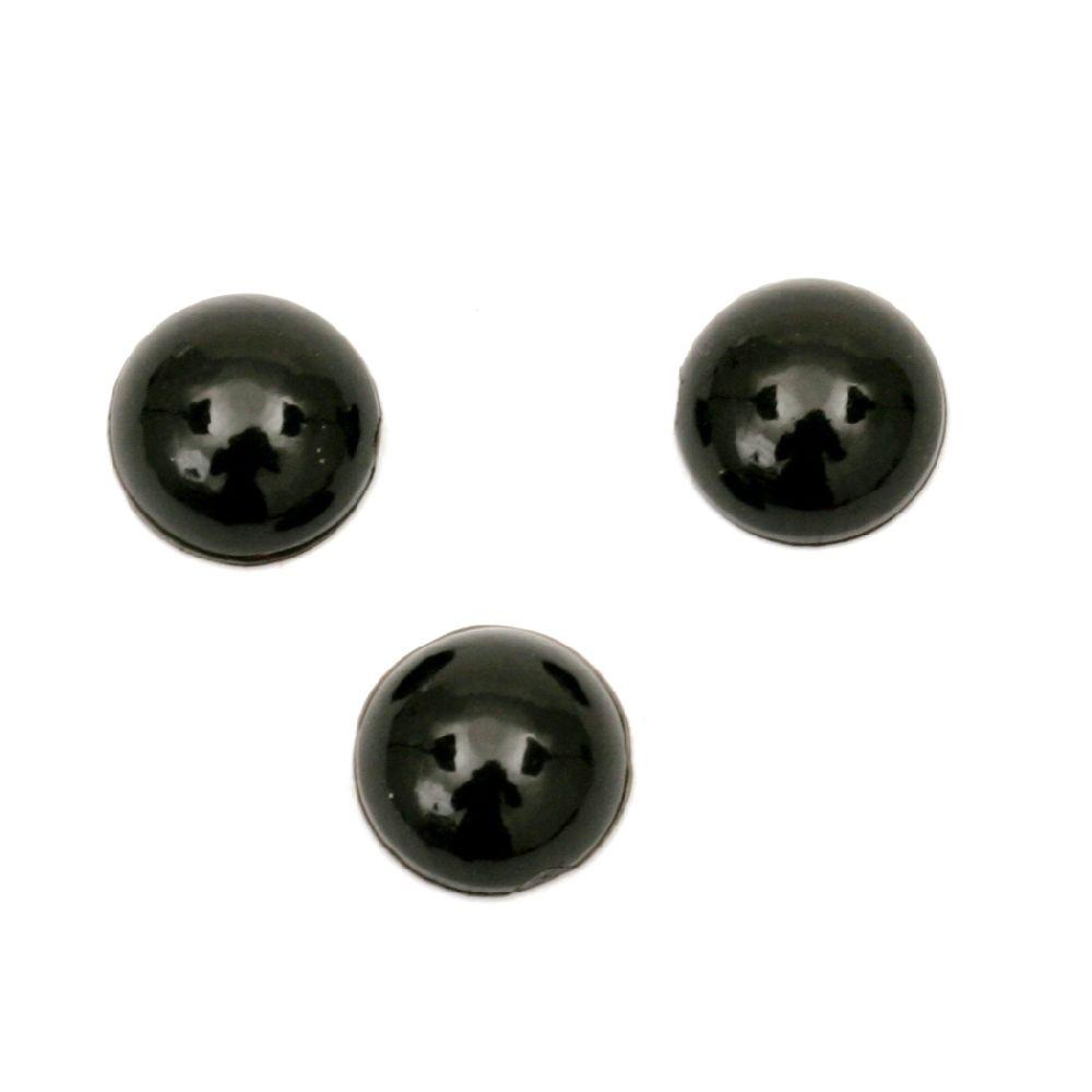 Emisfera 7x3 mm negru -100 bucăți