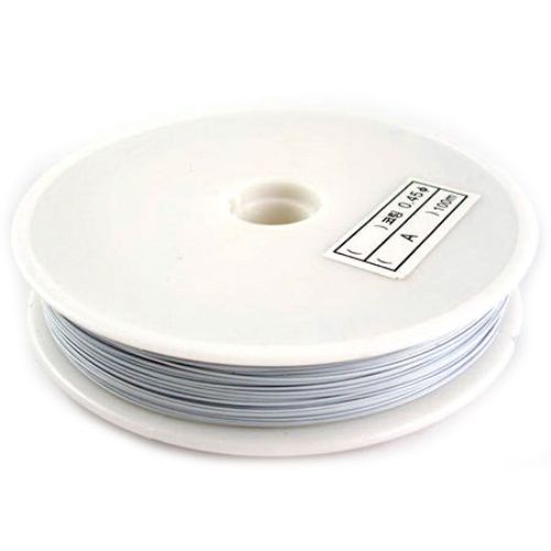 Steel Cord, Jewelry DIY Making0.38 mm white ~ 50 m