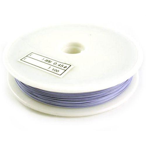 Steel Cord, Jewelry DIY Making 0.38 mm light purple -50 meters