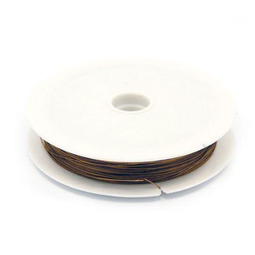 Steel Cord, Jewelry DIY Making 0.38 mm brown, light brown ~ 50 meters