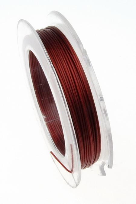 Ατσαλόσυρμα/ ντίζα 0,45 mm κόκκινο -10 μέτρα/ καρούλι