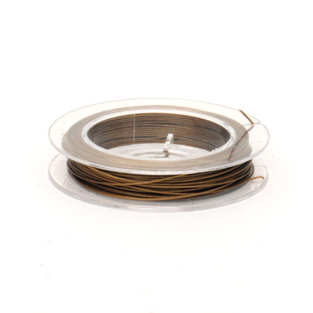 Cablu de oțel 0,45 mm culoare aurie -10 metri