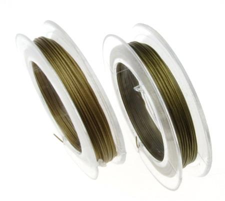 Light Brown Jewellery steel cord  0.45 mm