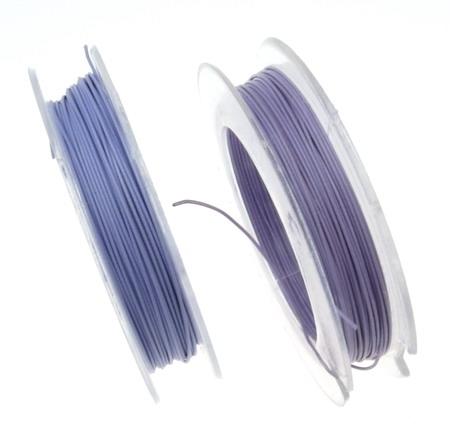 Корда стоманена 0.45 мм цвят лилава светло -10 метра