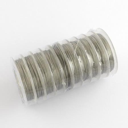 Cablu de oțel 0,38 mm culoare argintie -10 metri