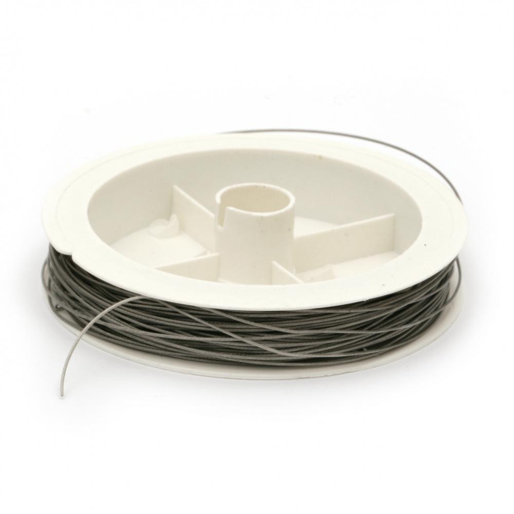 Cablu de oțel 0,60 mm culoare argintiu ~ 22 metri