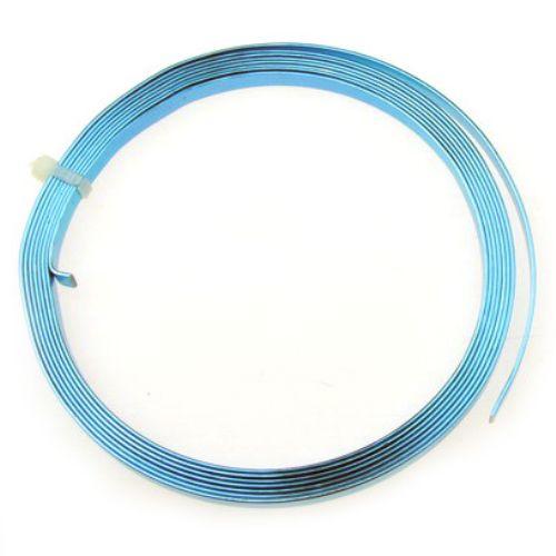 Лента алуминиева 5x1 мм цвят синя -2 метра