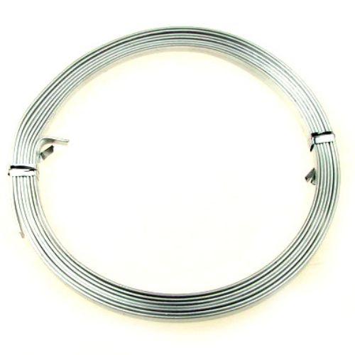 Лента алуминиева 5x1 мм цвят сребро -2 метра