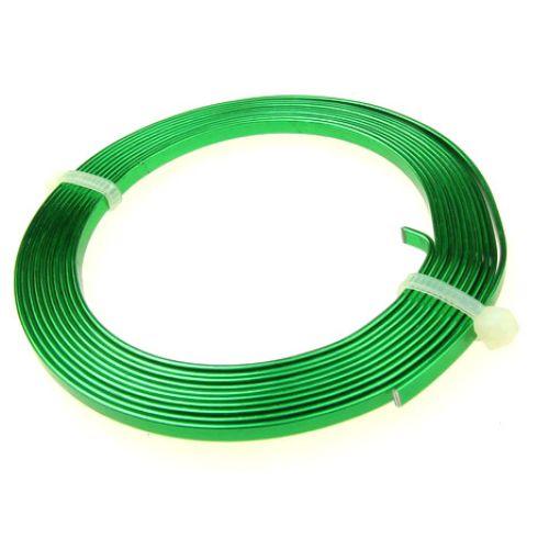 Лента алуминиева 3x1 мм цвят зелена -2 метра
