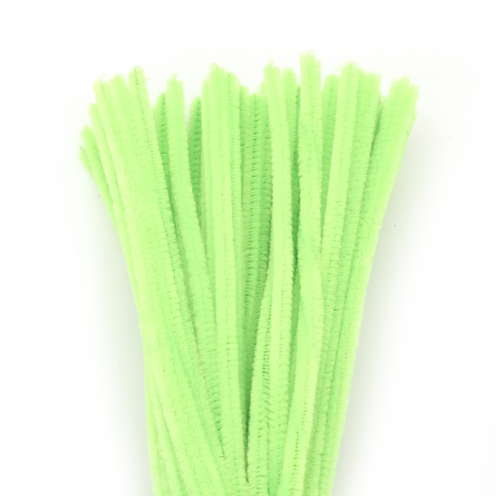 Green Pipe Cleaners, DIY Crafts Decorating, Children -30 cm -10 pieces