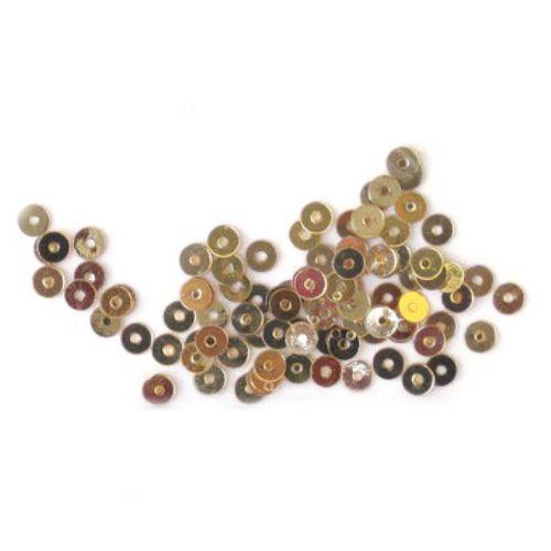 Paiete rotunde plate de 3 mm aur vechi - 20 de grame
