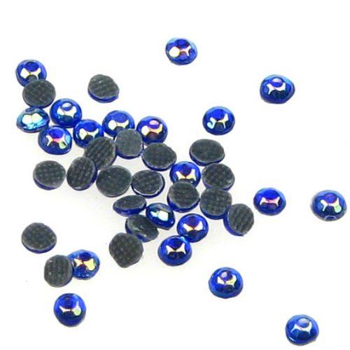 DIY Self-Adhesive Glass Rhinestone, Crystals, Decorations, Clothes, Craft  2.2 mm rainbow blue 2 grams ~ 210 pieces