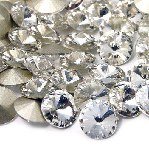 Acrylic Rhinestone, Hot-Fix Decoration, Clothes, DIY, Craft, Jewelry Making round 8 mm transparent -5 pieces