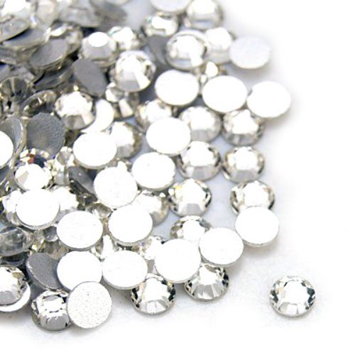 Decoration for gluing   circle 4 mm transparent -50 pieces