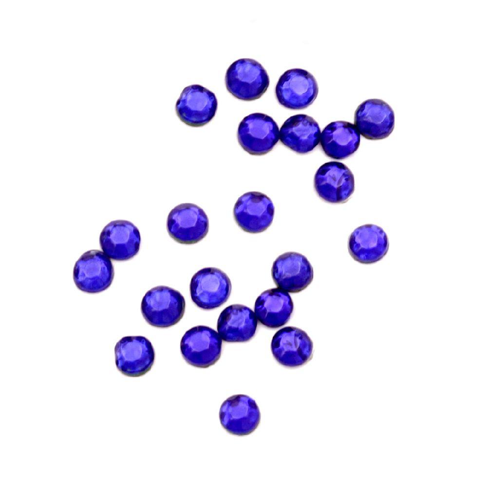 DIY Self-Adhesive Glass Rhinestone 2 mm blue 2 grams ± 250 pieces