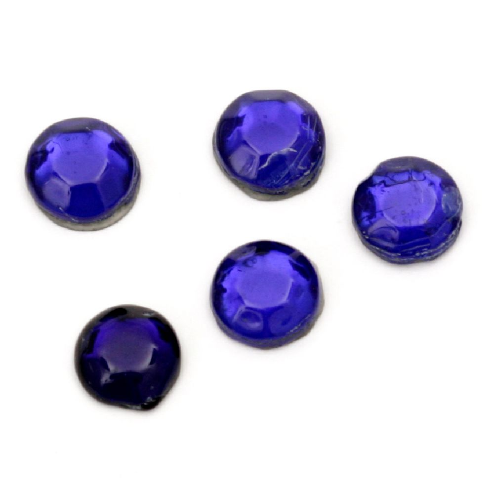 DIY Self Adhesive Glass Rhinestone 5.5 mm blue 2 grams ± 22 pieces