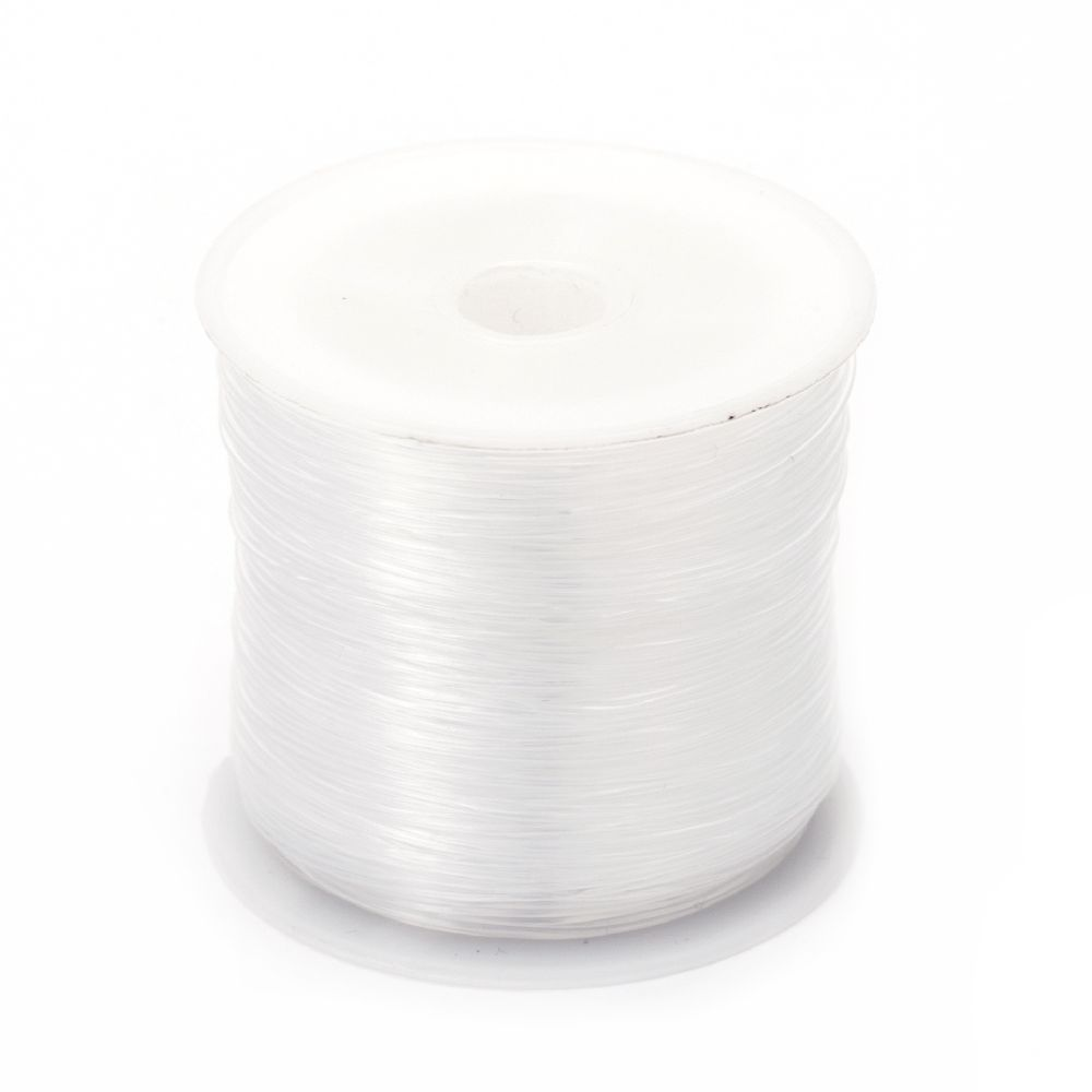 Nylon Wire Roll, Beading Thread, Clear 0.6 mm, 50m