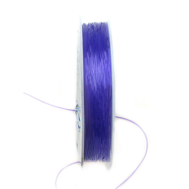 Elastic Fibre Wire, Dyed 0.6mm violet ~ 7m