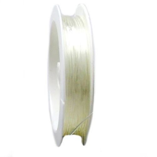 Ελαστικό κορδόνι σιλικόνης 1,0 mm διαφανές ~ 4,2 μέτρα/ καρούλι