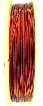 Steel Cord, Jewelry DIY Making 0.38 mm red -100 meters
