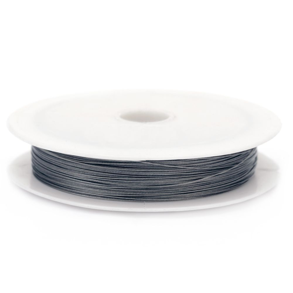 Cablu de oțel 0,38 mm argintiu ~ 70 metri