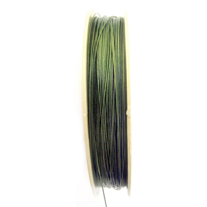 Steel Cord, Craft & Jewellery Making 0.45 mm green -100 meters
