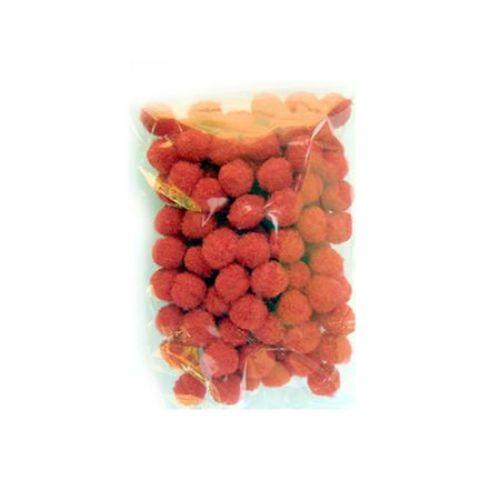 Помпони 10 мм червени -100 броя