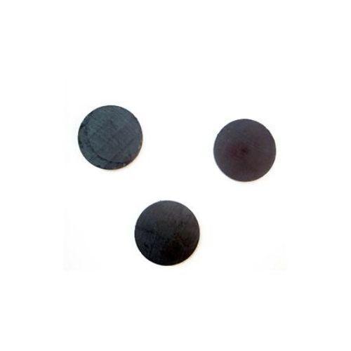 Magnet negru 25x4 mm -10 bucăți