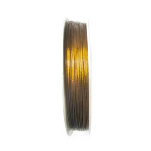 Cablu de oțel 0,45 mm culoare aur -100 m
