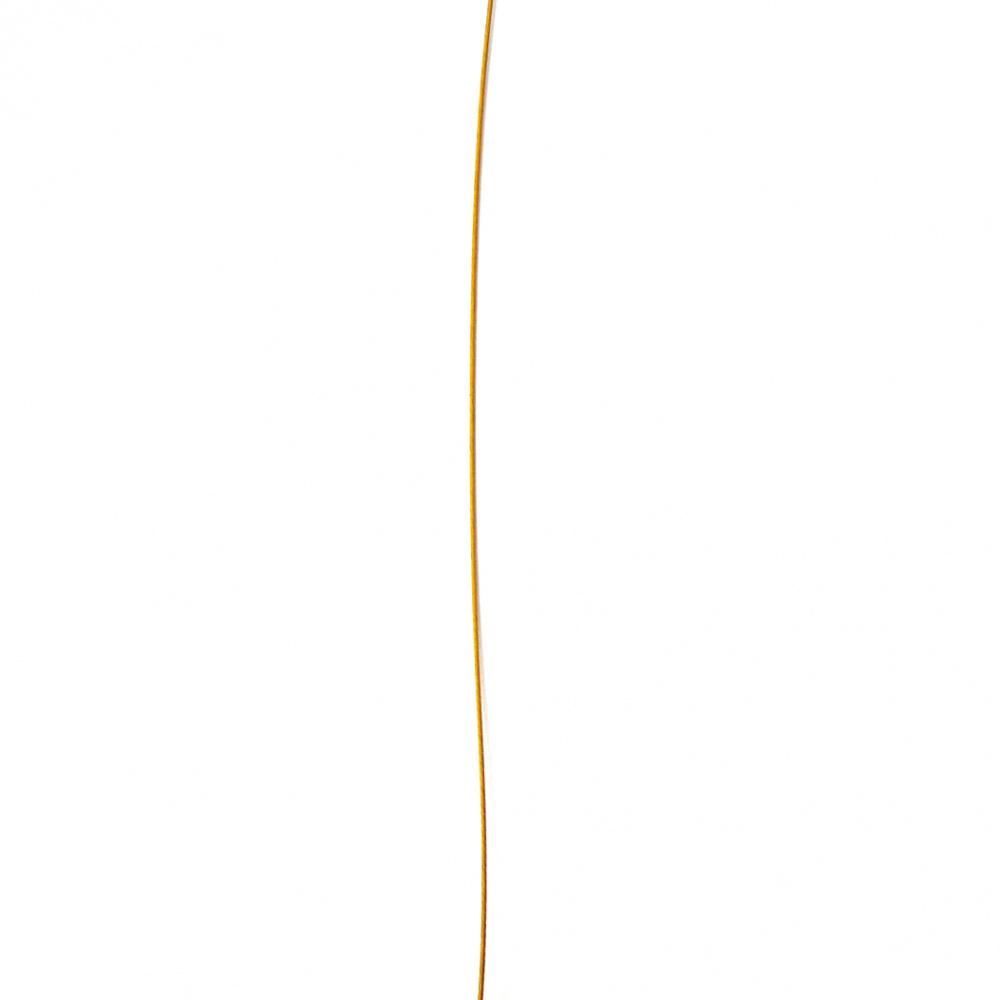 Ατσαλόσυρμα/ ντίζα 0,45 mm χρυσό. Η τιμή είναι ανά μέτρο.