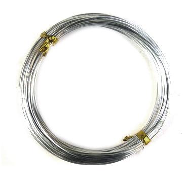 Σύρμα αλουμινίου 1 mm ασήμι -10 μέτρα