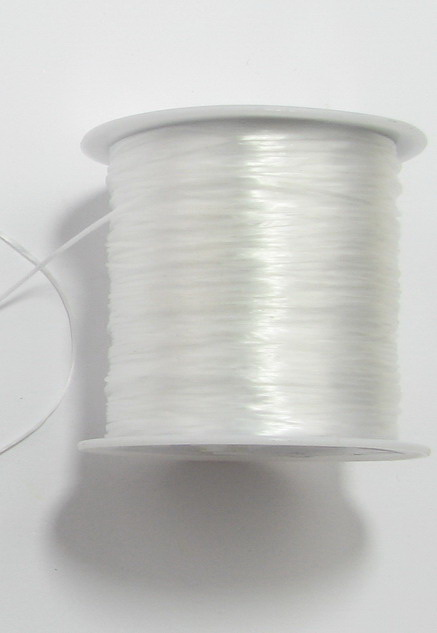 Силикон ластик 0.8 мм бял ~45 метра