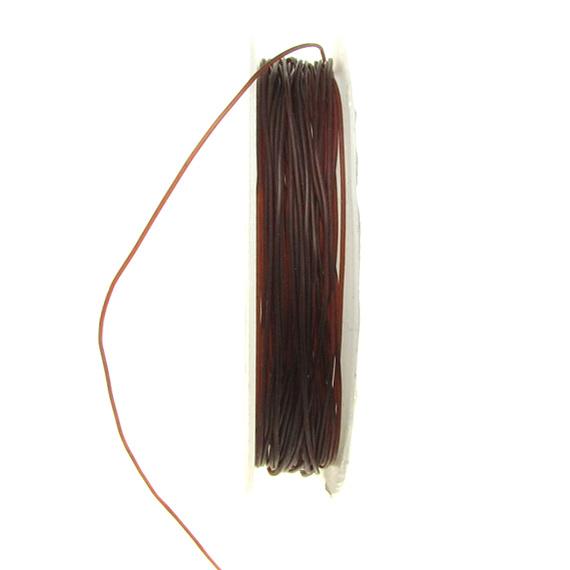 Beading Elastic Wire 0.6 mm brown ~ 7 meters