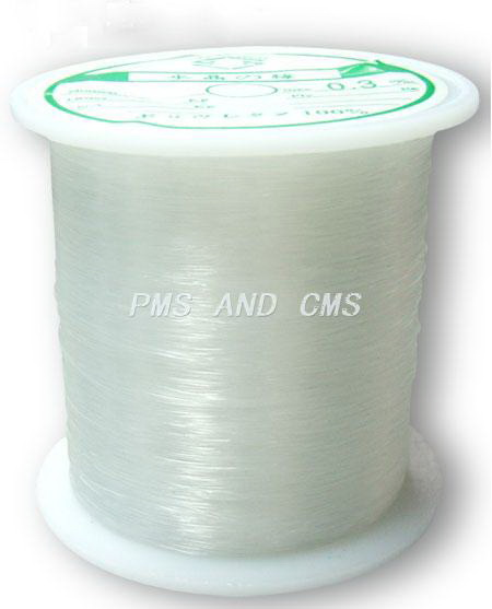 Jewelry Nylon Wire, Beading Thread, Clear 0.45 mm