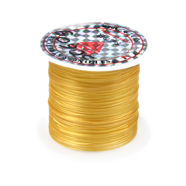 Elastic Fibre Wire, Dyed 0.8mm Gold ~ 11m