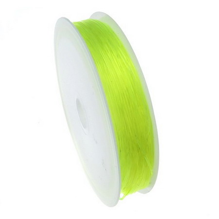 Stretchy Beading Elastic Wire Roll, 0.6 mm green light ~ 13 meters
