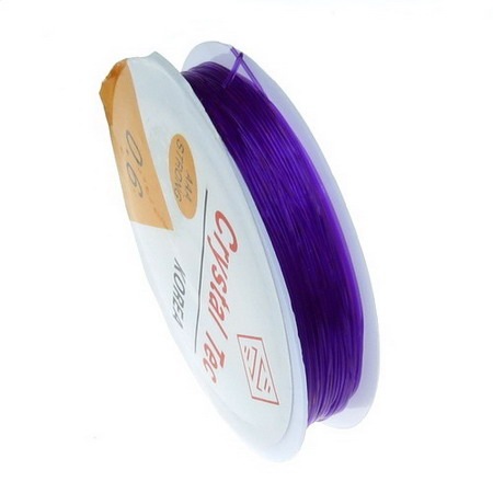 Silicone 0.6 mm purple ~ 13 meters
