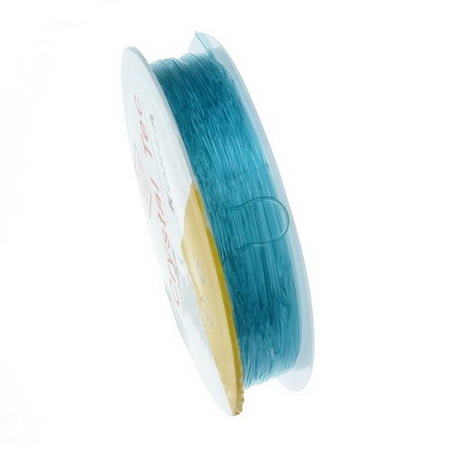Stretchy Beading Elastic Wire Roll, 0.6 mm blue ~ 13 meters