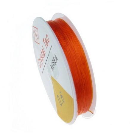 Silicon 0,6 mm portocaliu ~ 13 metri