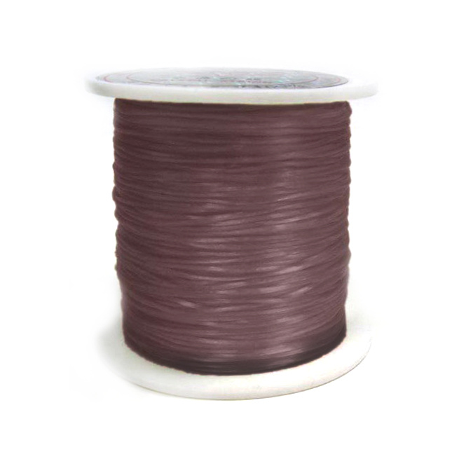 Beading Elastic Wire 0.8 mm brown ~ 11 meters