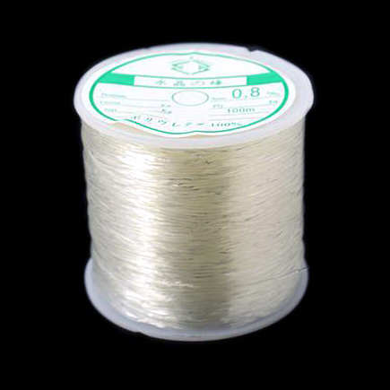 Stretchy Beading Elastic Wire 0.6 mm transparent ~ 100 meters