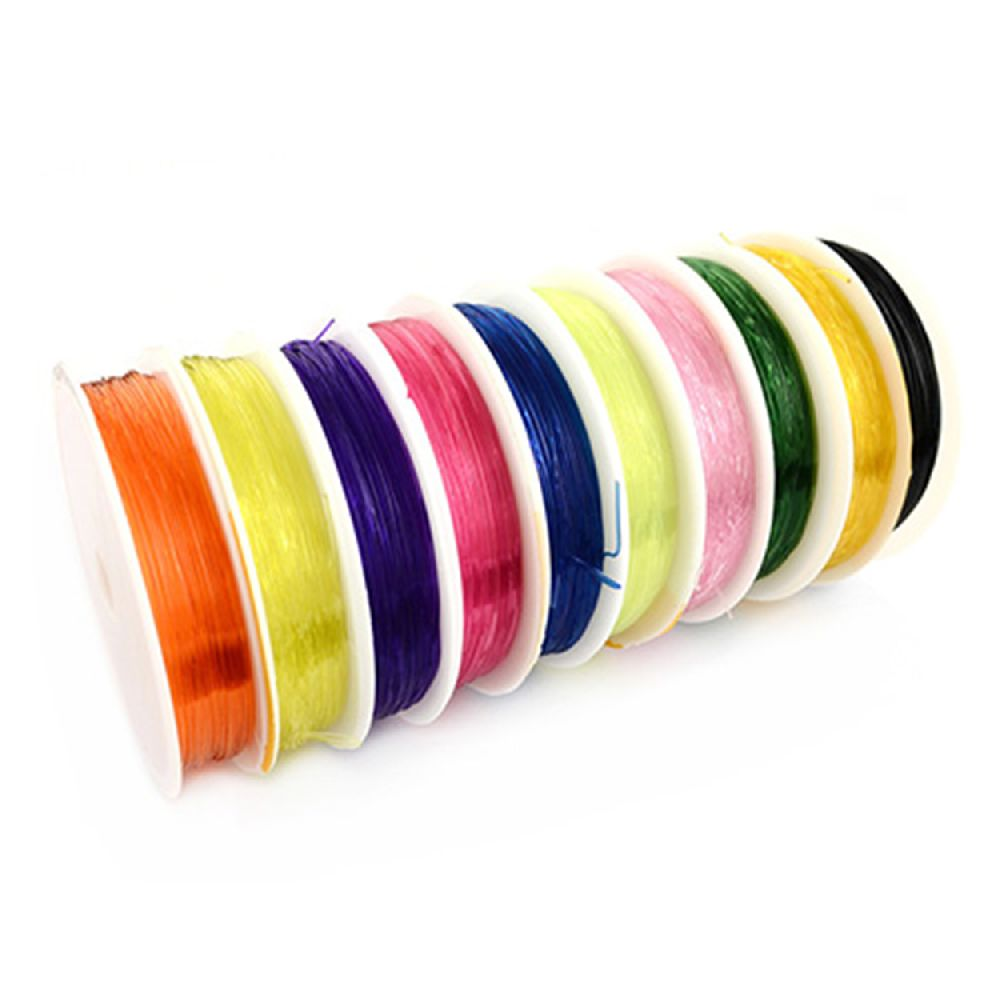 Jewelry Elastic Wire Roll, 0.6 mm colored mixed ~ 10 meters
