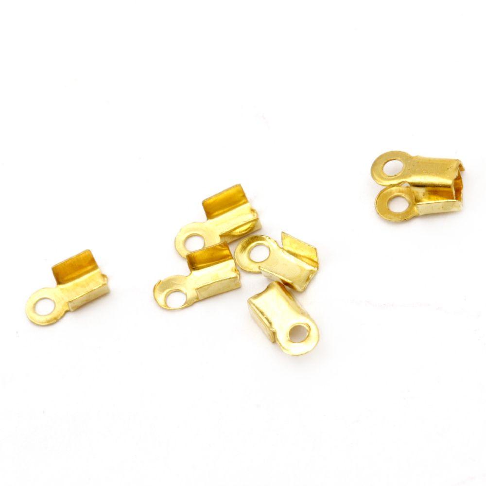 Duza metal 3x6 mm culoare aur -200 bucăți