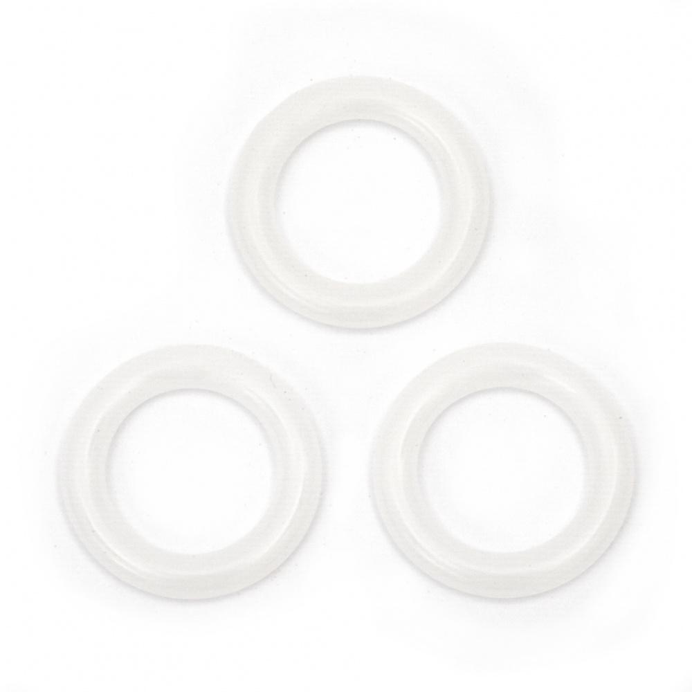 Маркиращи пластмасови халки при плетене 22.2 мм -15 броя