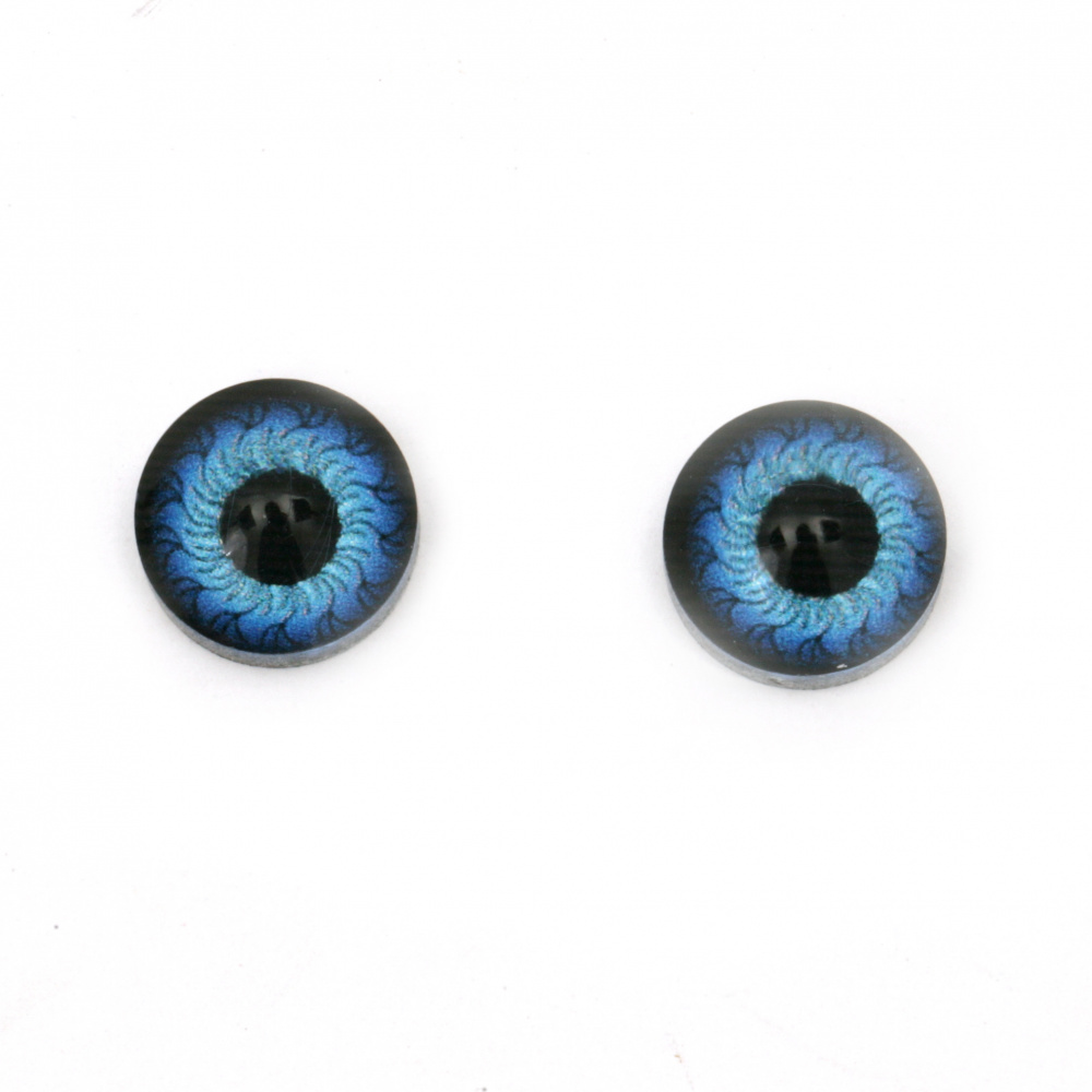 Ochi din cauciuc 12x4,5 mm albastru -10 bucăți