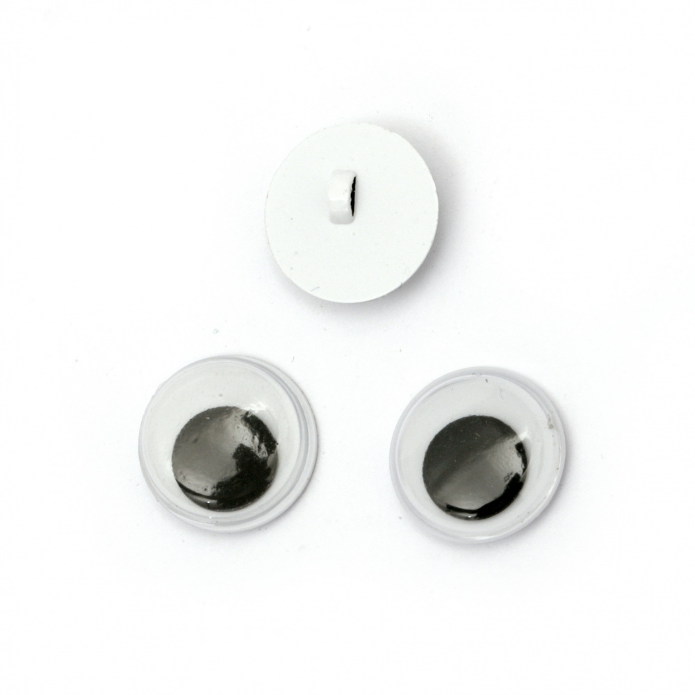 Wiggle Eyes for sewing DIY Crafts Handmade Accessories 12 mm,  type button - 20 pieces