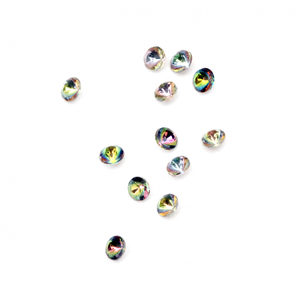 Acrylic Rhinestone, Hot-Fix, DIY, Decoration  4x2.5 mm round transparent faceted arc-100 pieces