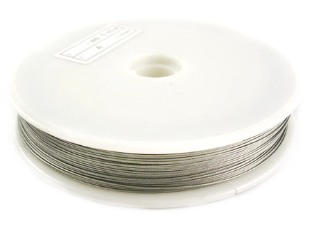 Steel Cord, Jewelry DIY Making  0.45 mm silver color -50 meters