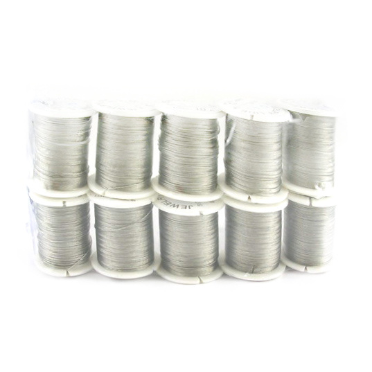 Steel Cord, Jewelry DIY Making 0.45 mm color silver -10 m